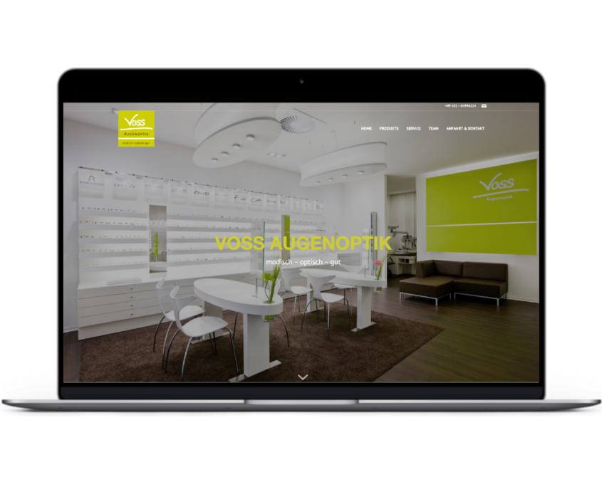 Corporate Website Reference opensmjle - VOSS AUGENOPTIK